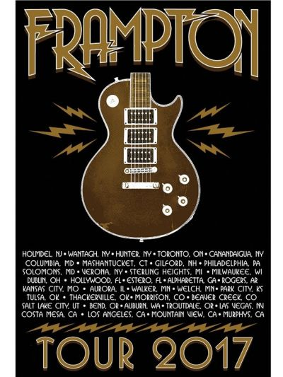 Lightning Bolt Guitar Tour 2017 Poster