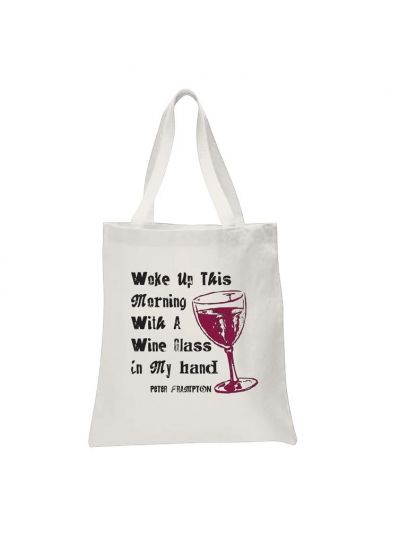 Peter Frampton - Woke Up with a Wine Glass Tote Bag