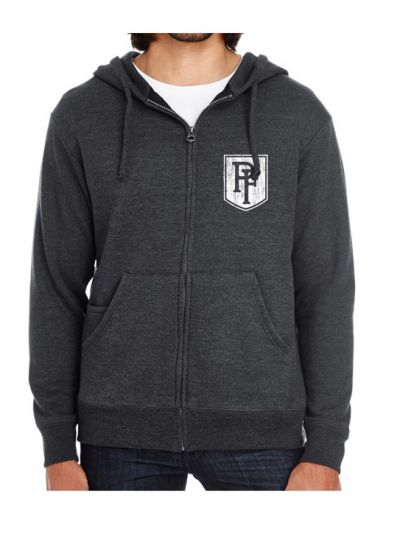 Peter Frampton - Distressed Crest Lion Zip Hoodie
